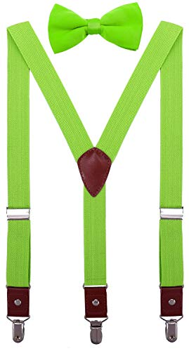 CEAJOO Toddler Boys' Suspenders and Bow Tie Set Adjustable Y Back 24