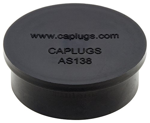 Caplugs QAS13819CQ1 Plastic Electrical Connector Dust Cap AS138-19C, E/VAC, Meets new SAE Aerospace specification AS85049/138. Please see drawing., Black (Pack of 1000) by Caplugs