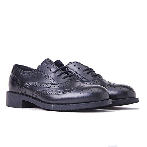 FRAU 98P5 nero scarpe donna inglesina puntale inglese pelle nero