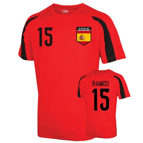 Spain Sports Training Jersey (ramos 15) Kids B01LACKB14Red LB (9-11 Years)