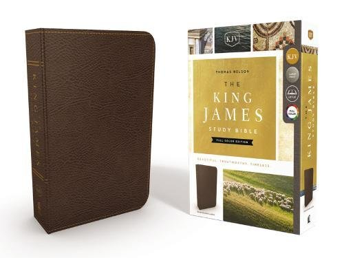KJV, The King James Study Bible, Bonded Leather, Brown, Full-Color Edition