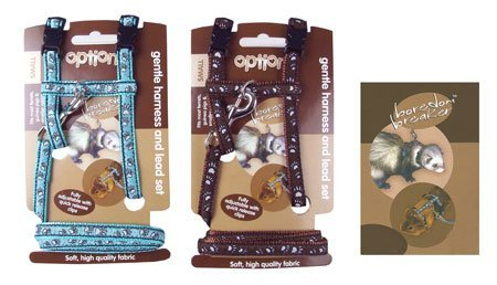 Options (Boredom Breakers) Gentle Harness & Lead Set For Ferrets & Guinea Pigs (Small) by Options