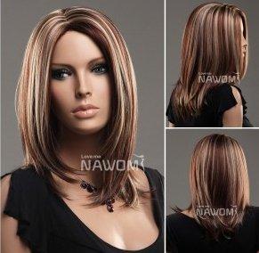 Amazon Com Euorpean Hot Wigs With No Bangs Medium Long Blond Wigs