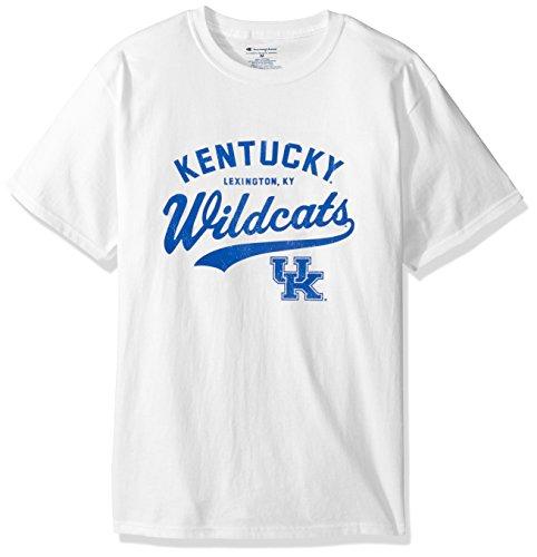NCAA Kentucky Wildcats Men's Champ Short Sleeve T-Shirt 8, X-Large, White ()