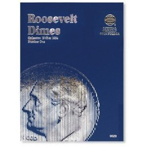 1946-1964 Roosevelt Dime Trifold Whitman No 9029 Coin; Album, Binder, Board, Book, Collection, Folder, Holder, Page, Portfolio, Publication, Set, Volume