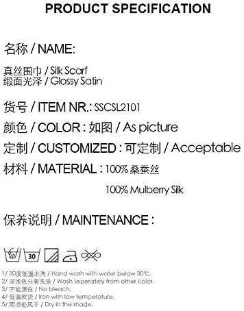 SIXIULIYU 100/% Silk Satin Long Scarf For Men 26X160cm Classic Printed Pattern Businessmen Scarf Gentlemen Scarf