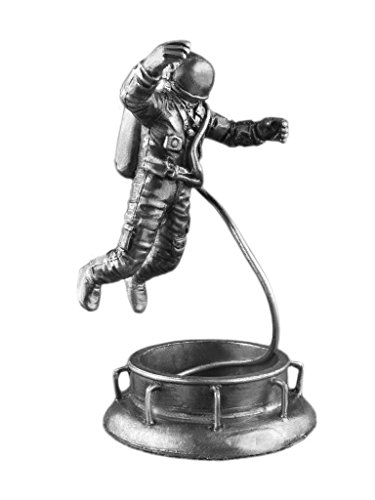 Astronaut Alexey Leonov Historical Sculpture Spaceman UnPainted Tin Metal Collection Toy Soldier Size 1/32 Scale Décor Accents 54mm for Home Collectible Figurines Best Gift ITEM (Spaceman Tin)