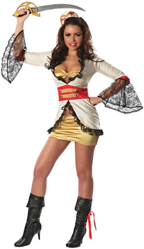 Booty Pirate Sexy Adult (Pirate Booty Sexy Costume, Multi)