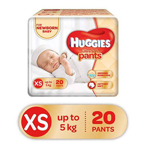 Huggies Ultra Soft Pants Diapers, XS  Pack of 20