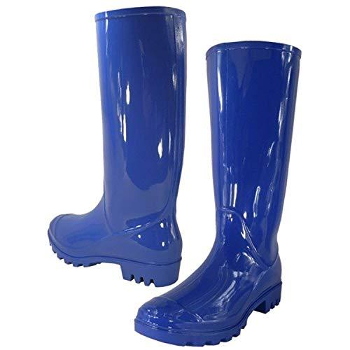 Royal Waterproof Stylish Ladies Rubber Women For Rain Blue Boots caAPqWwB0