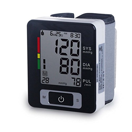 Automatic Wrist Blood Pressure Monitor FDA Approved with Por
