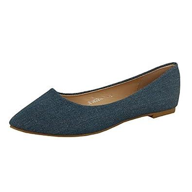 good Bella Marie Angie-53 Ballet Flats (7.5 M, Blue Denim)