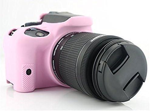 Hihouse Funda de Cámara Deportivas Caja de Protección de Silicona Suave Para Canon EOS 100D (rosa): Amazon.es: Hogar