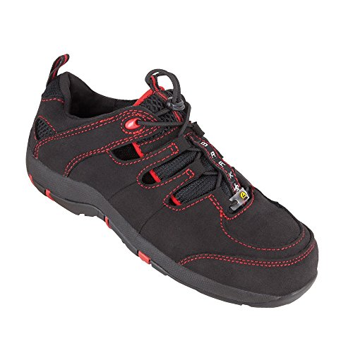 Seguridad para mujer zapatos de seguridad Sue 3211 woman Premium S1 ESD sandalias BGR191 colour negro, Negro, 3211