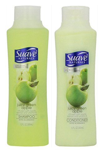 Apple Scented Shampoo (Suave Naturals Shampoo & Conditioner Set, Juicy Green Apple, 12 Ounce)