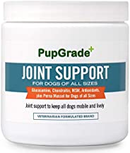 PupGrade Joint Support Supplement for Dogs - Natural Glucosamine Chondroitin & MSM Soft Chews for Hip and