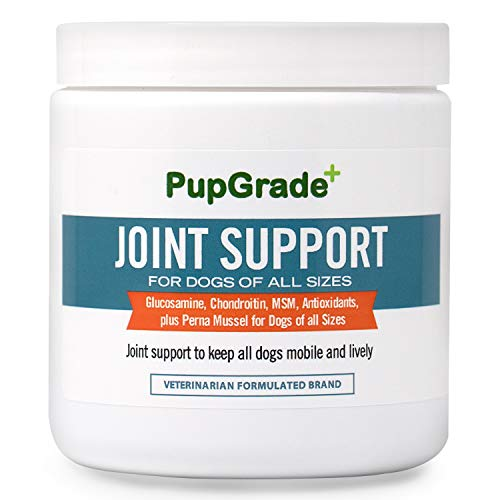 PupGrade Joint Supplements for Dogs - Best Dog Supplement for Good Joint Care, Relieves Hip Pain in Dogs, Glucosamine, Chondroitin & MSM for Dogs, All Natural Treats, Made in USA - 60 Chews