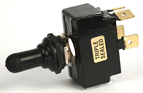 Off / On / On 20 Amp Sand Sealed Toggle Switch With Tab Terminals