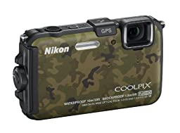 Nikon COOLPIX AW100 16 MP CMOS Waterproof Digital Camera with GPS and Full HD 1080p Video (Camouflage) (OLD MODEL)