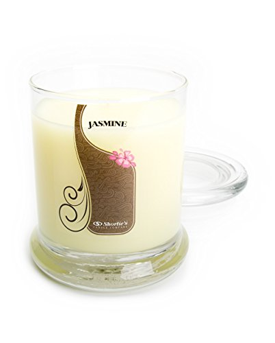 Pure Jasmine Candle - 10 Oz. Highly Scented Yellow Jar Candle - Floral Candles Collection