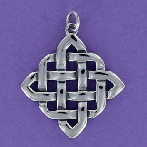 Charm - Sterling Silver - Jewelry - Pendant - Celtic Knot Square