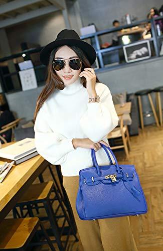 Bag Shoulder PU Women's Bag A Handbag XMLiZhiGu blue Top Crossbody Leather Handle Tote OqX1nxZt