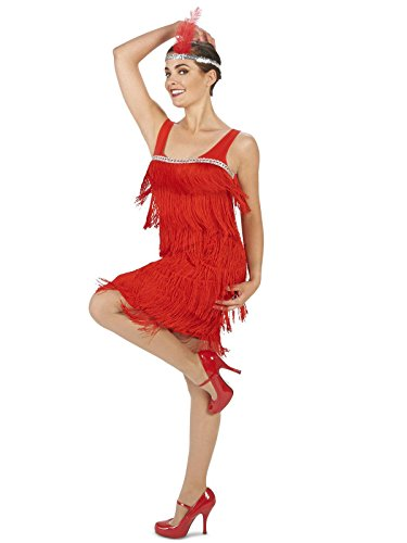 Roarin' Red Flapper Adult Costume Small