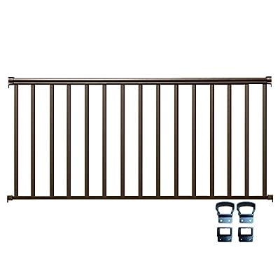 Contractor Deck Railing 6ft x 36in Aluminum Residential Railing - Bronze