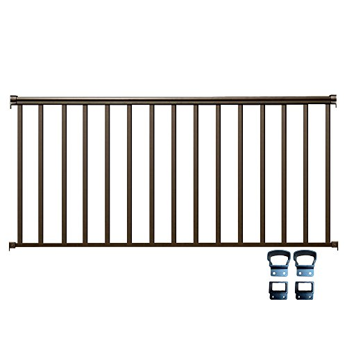 Aluminum Deck Railings - Contractor Deck Railing 6ft x 36in Aluminum Residential Railing - Bronze