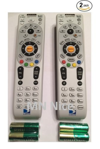DIRECTV RC66 2 PACK Universal IR Remote Control - Replaces Remote RC65X, RC65, RC65XMP, RC21, RC24, RC30,RC64 - Remote Tv Direct Rc64