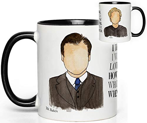 John & Anna Bates (Downton Abbey) TV Show Mug Quote Fan Gift
