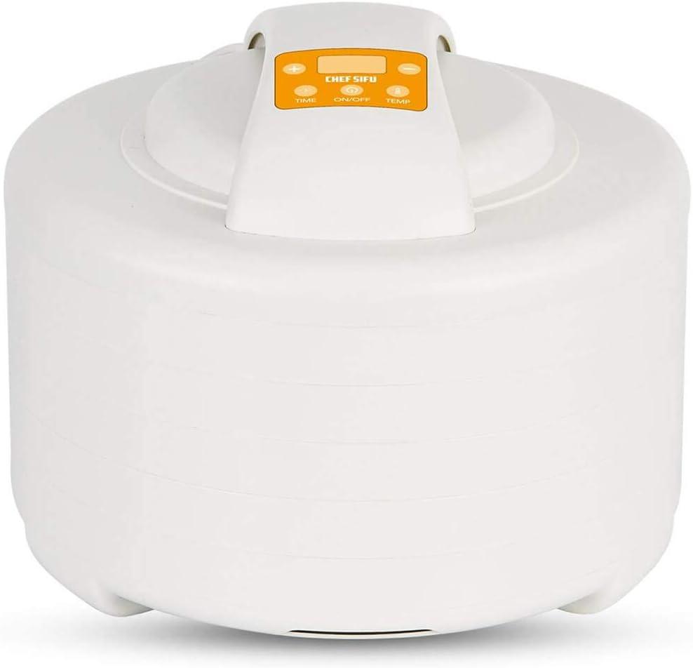 Deshidratadora Autom/ático con Temporizador 220V Secador de Frutas y Verduras 250W Cikonielf Deshidratador de Alimentos con 5 Bandejas Temperatura Ajustable