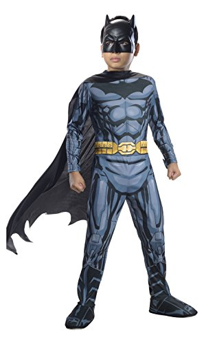 Rubies DC Super Heroes Child Batman Costume, Small (Kids Batman Suit)