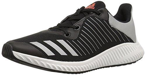 adidas Kids Fortarun,black/Metallic/Silver/Energy,4 M US Big Kid