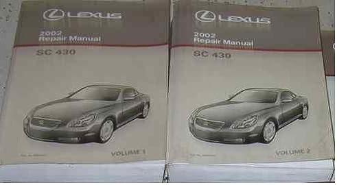 2002 lexus sc430 sc 430 service shop repair manual set factory oem rh amazon com 2002 Lexus SC430 Specs Used 2002 Lexus SC430