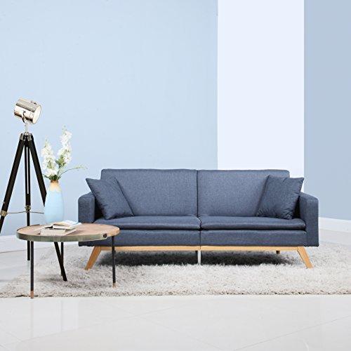 Divano Roma Furniture Modern Tufted Linen Splitback Recliner Sleeper Futon Sofa (Dark Grey)
