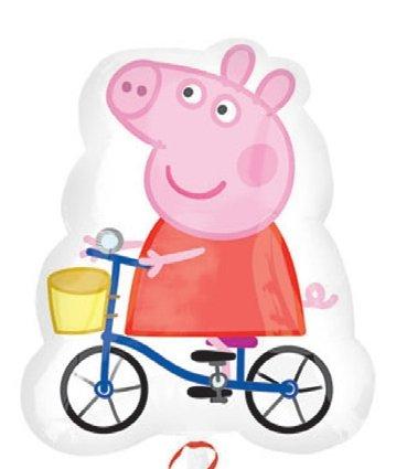 """27 """"Peppa Pig hélium clinquant en forme ballon (CS106)"""