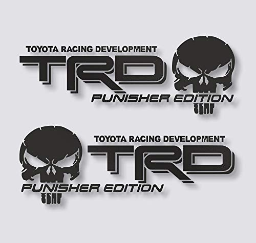 Edwin Group of Companies TRD Punisher Edition Decals Toyota Tacoma Tundra Truck Vinyl Stickers X2