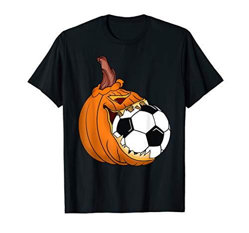 Pumpkin Carving Eat Soccer Ball Costume T-Shirt]()