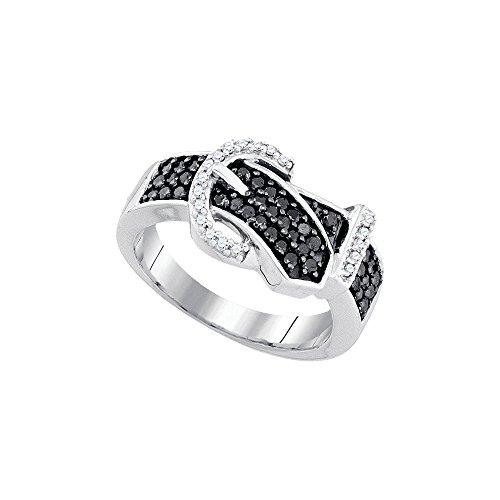 Black Diamond Buckle Ring - 8