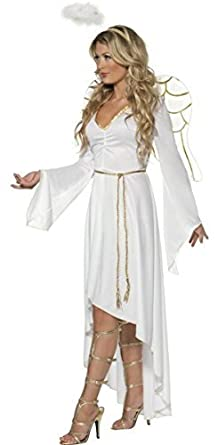 567a32efbf356 Femmes Divine Ange avec des Ailes   Halo Noël Festif Costume Déguisement  8-18 -