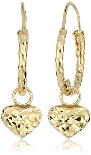 10k Gold Heart Charm - 7