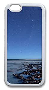 iphone 6 plus 5.5inch Case and Cover Ocean at night TPU Silicone Rubber Case Cover for iphone 6 plus 5.5inch White