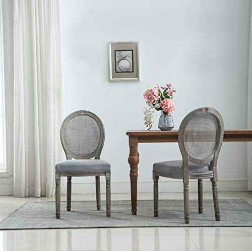Amazon.com - French Retro Dining Chairs, Distressed Wood ...