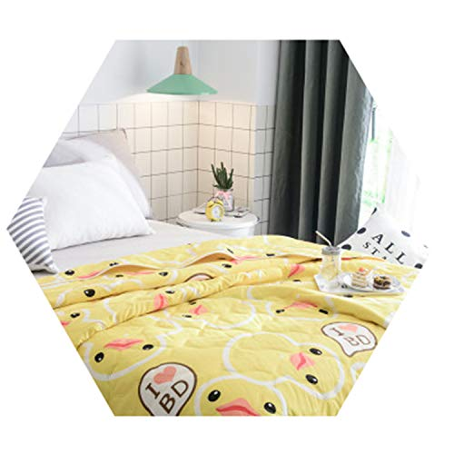 Bedding Flamingo Summer Quilt Blankets Cartoon Bed Cover Quilting Home Textiles Adults Kids G 140x190cm ()
