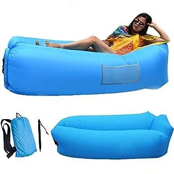2017 Nuevo al aire libre sofá rápido hinchable laybag Hangout tumbona playa Aire cama plegable saco de dormir Lazy sofá Lazy aire sofá: Amazon.es: Deportes ...