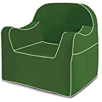 Pkolino Reader Chair Dark Green with white piping