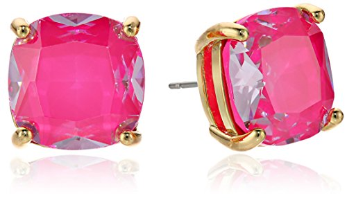 Pink Kate Spade - kate spade new york Enamel Small Square Pink Stud Earrings