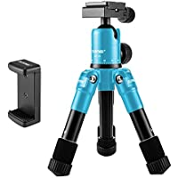 Zomei Lightweight Compact Aluminum Alloy Mini Desktop Tabletop Tripod with 360 Degree Panoramic Ball Head and Quick Release Plate for Canon Nikon DSLR Cameras and Iphone Samsung Mobile Phones(Blue)