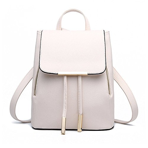 Jonon Women's Modern Design Deluxe Fashion Backpacks (L, WHITE) by JONON